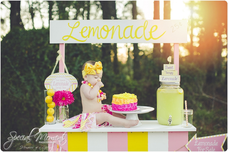 lemonade stand smash the cake, 1 year old portraits, fort smith arkansas photography_0024