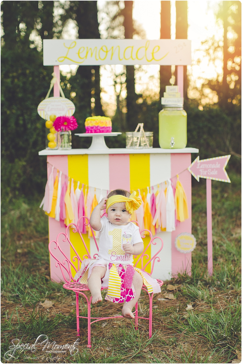 lemonade stand smash the cake, 1 year old portraits, fort smith arkansas photography_0028