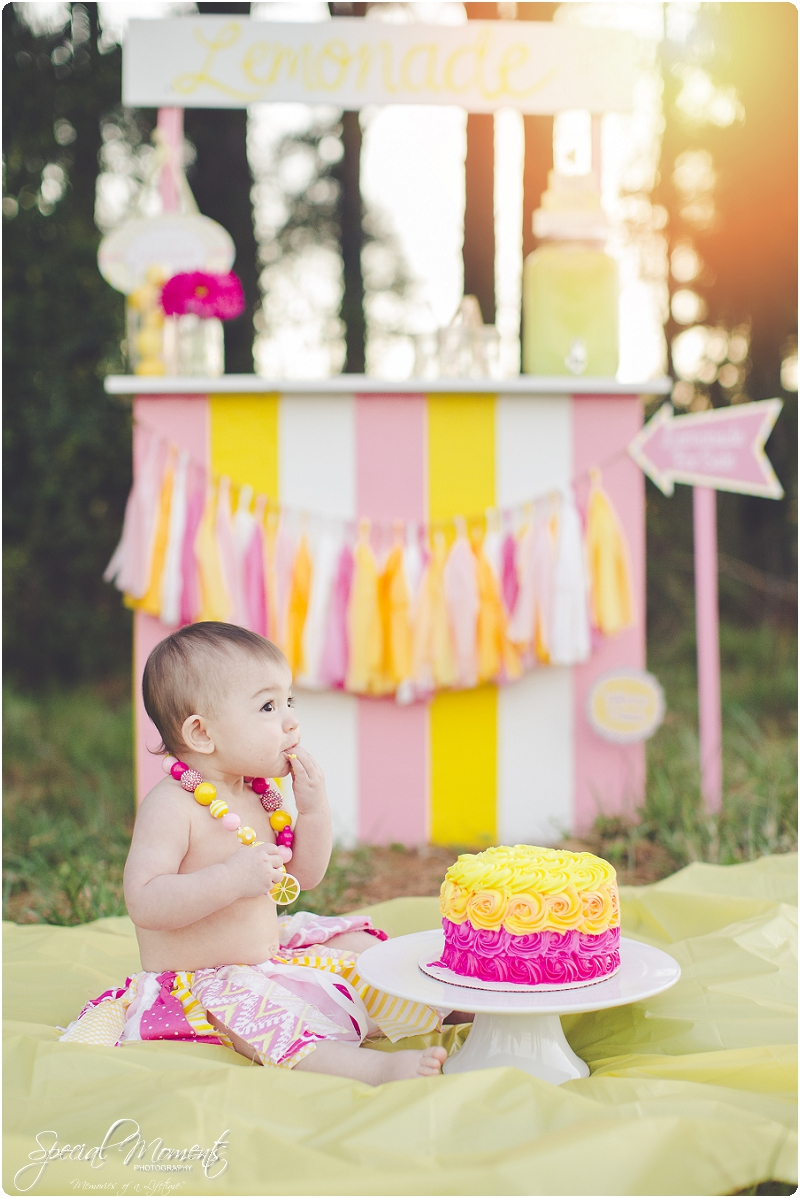 lemonade stand smash the cake, 1 year old portraits, fort smith arkansas photography_0032