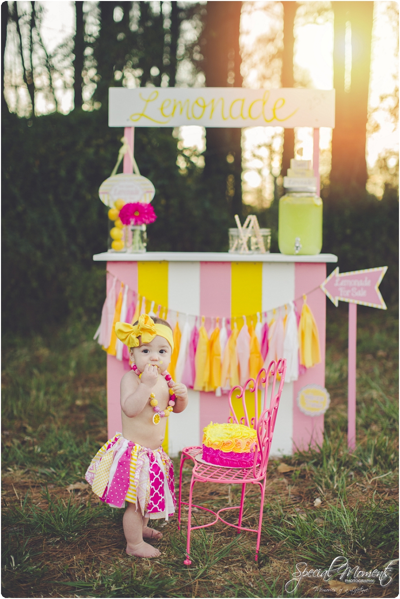 lemonade stand smash the cake, 1 year old portraits, fort smith arkansas photography_0034