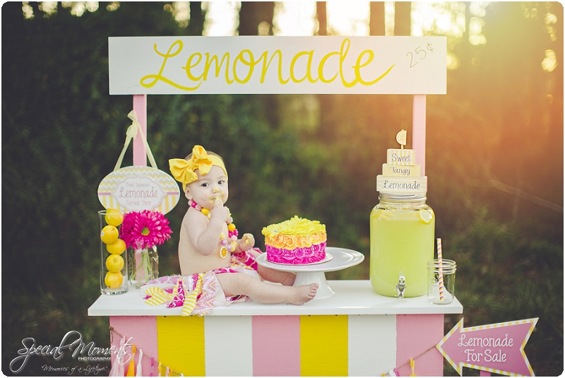 lemonade stand smash the cake, 1 year old portraits, fort smith arkansas photography_0036